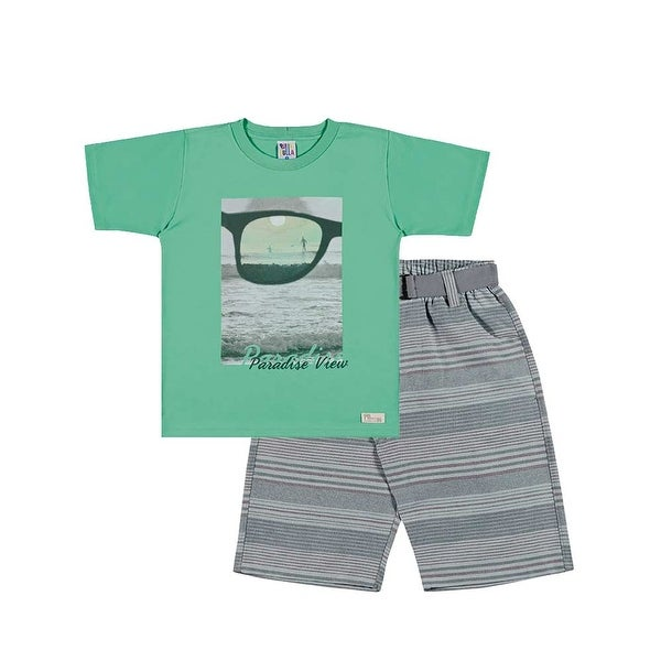 Boys Set Graphic Tee and Shorts Kids Outfit Pulla Bulla Sizes 2-10 Years