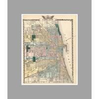 Chicago (28x36) Vintage City Maps Matte Poster 28x36