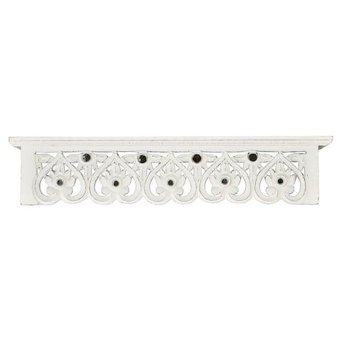 "Brewster X69400A24 Fetco Calber 24"" x 5"" Hand Carved MDF Decorative Shelf"