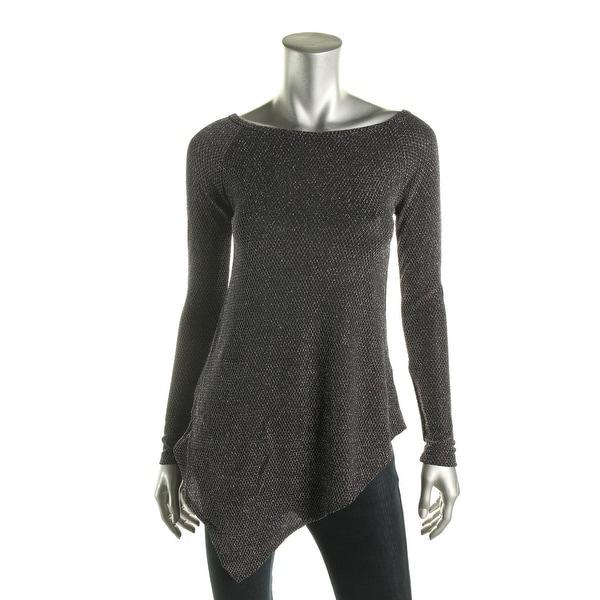 Karen Kane Womens Dress Top Metallic Asymmetric - m