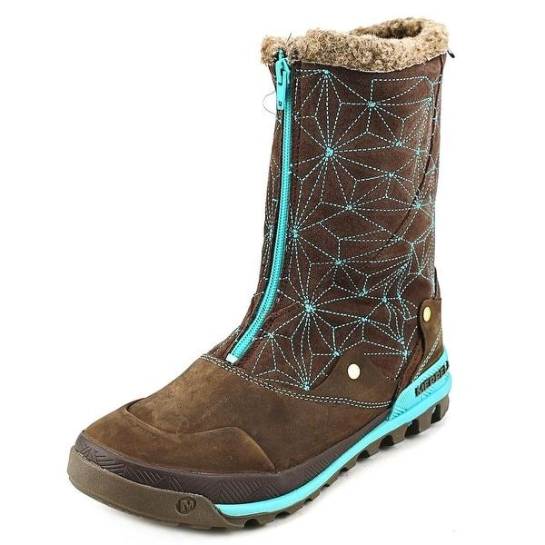 Merrell Silversun Zip Women  Round Toe Leather  Winter Boot