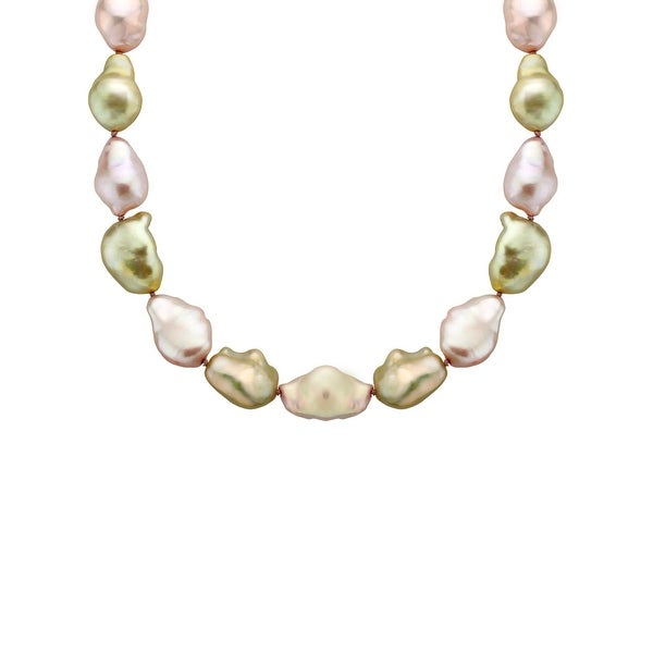 Honora 18-Inch Baroque Freshwater Pearl Strand with Sterling Silver Clasp