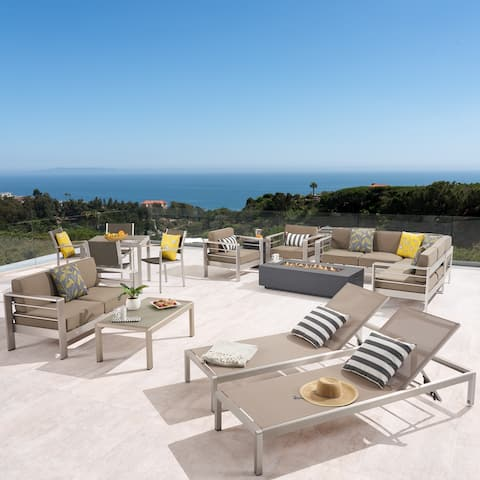 Cape Outdoor Conversation Set by Christopher Knight Home..