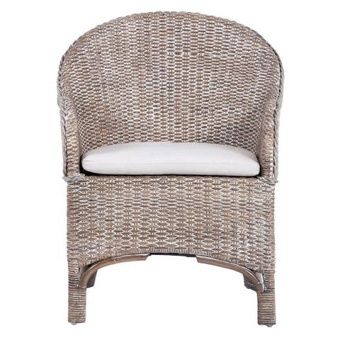 "Safavieh Antonia Rattan Accent Chair with Cushion - 22"" W x 26.8"" L x 33.5"" H"