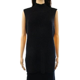 INC International Concepts Mock Neck Sleeveless Sweater Tunic - M