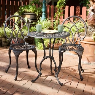 Link to Charleston Aluminum Copper Bistro Set by Christopher Knight Home Similar Items in Patio Furniture