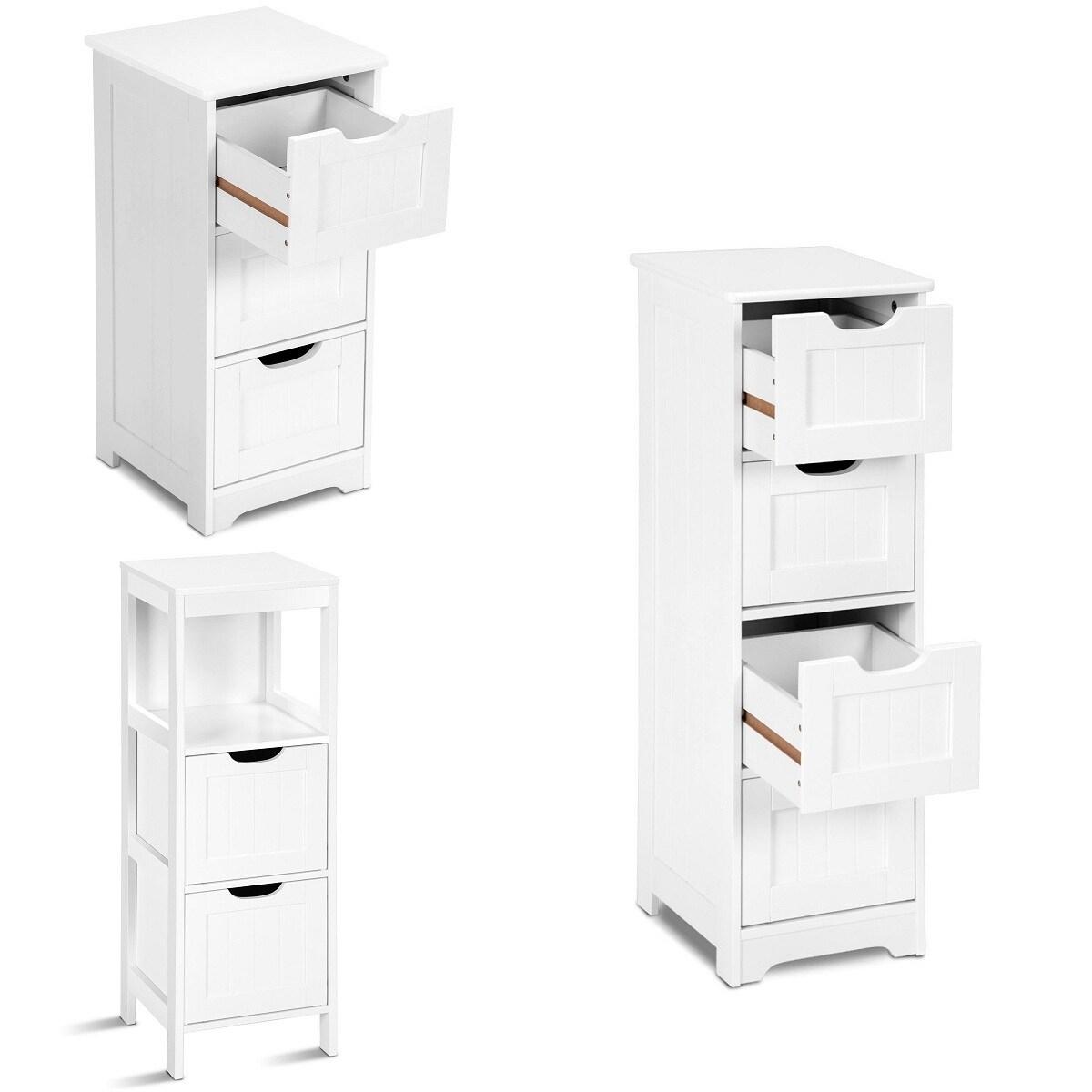 Costway White Floor Storage