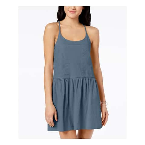 ROXY Womens Blue Sleeveless Scoop Neck Mini A-Line Dress Size XS