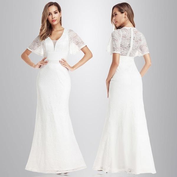Shop Ever-Pretty Womens Elegant A-Line Floral Lace Evening