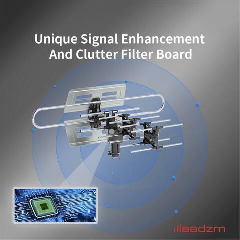 Leadzm TA-983 360°Rotation UV Frequency 45-860MHz 22-38dB TV Antenna