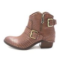 Donald J Pliner Charcoal Dalis Vintage Python Leather Ankle Boots