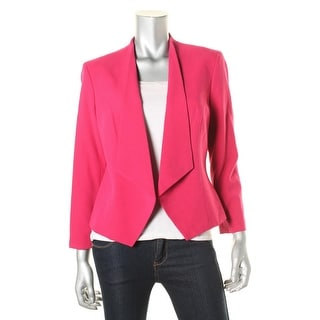 Nine West Womens Open-Front Blazer Long Sleeve Non-Vented