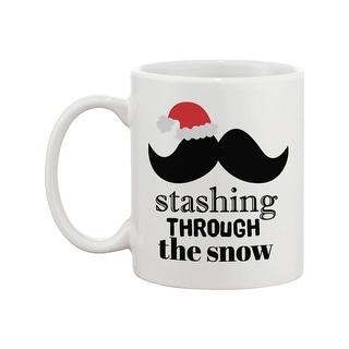 Stashing Through The Snow Holiday Mug Christmas Gifts Ideas Mustache Mugs