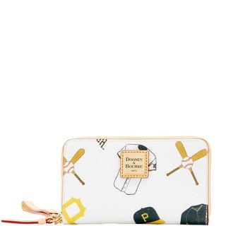 Dooney & Bourke MLB Pirates Zip Around Phone Wristlet (Introduced by Dooney & Bourke at $118 in Mar 2016) - White