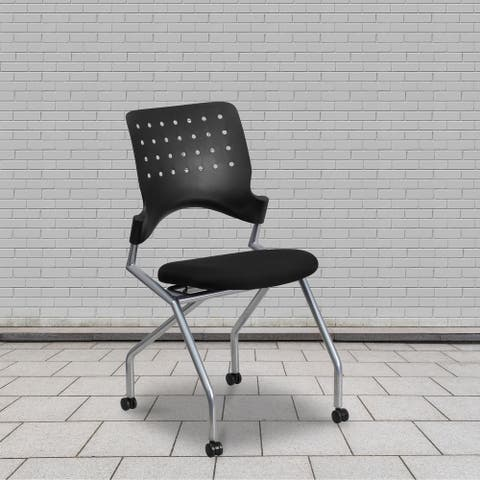 Galaxy Mobile Nesting Chair with Curved Back and Fabric Seat