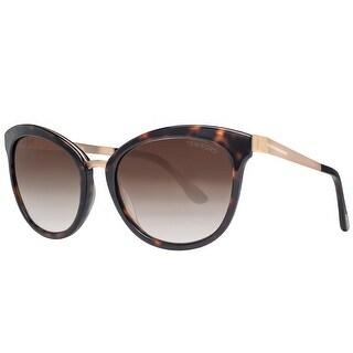 Tom Ford Emma TF 461 52G Gold Havana Brown Gradient Women's Cat Eye Sunglasses - havana brown/gold - 56mm-19mm-130mm