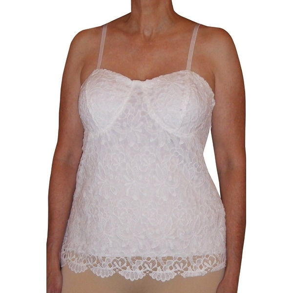 Funfash Plus Size White Clothing Lace Bustier Corset Top Blouse Shirt New Made in USA