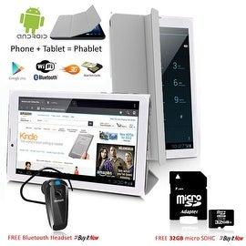 "Indigi® 7.0"" HD Unlocked 3G (2-in-1)Android 4.4 SmartPhone & TabletPC w/ Built-in Smart Cover + Bundle Included (Grey)"