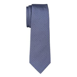 Yves Saint Laurent Silk Diamond Print Tie Blue Necktie Made In France