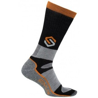 Scentlok Merino Thermal Crewmax Sock w/ Moisture Wicking - Black (Large)