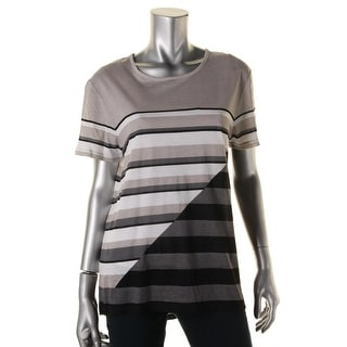 Vince Womens Modal Blend Colorblock Pullover Top - M