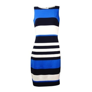 Lauren Ralph Lauren Women's Striped Crepe Sheath Dress - Navy/Cream (2 options available)