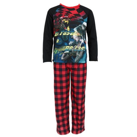 Boys Only Boy's 2 Piece Long Sleeve Tee and Pant Pajamas