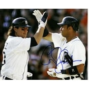 Signed Tigers Detroit 8x10 By Ordonez and Guillen autographed