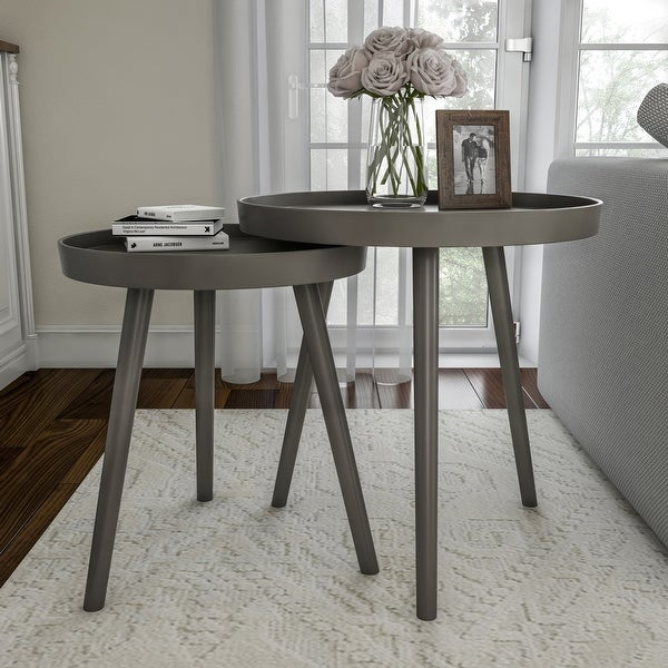 Set of 2 Nesting End Tables by Lavish Home. Opens flyout.
