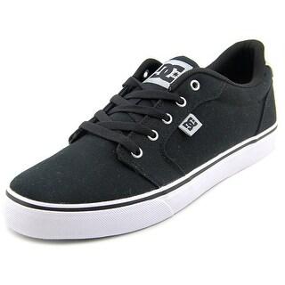 DC Shoes Anvil TX Men Round Toe Canvas Black Skate Shoe