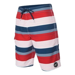 O'Neill Mens Santa Cruz Striped Swimming Board Shorts
