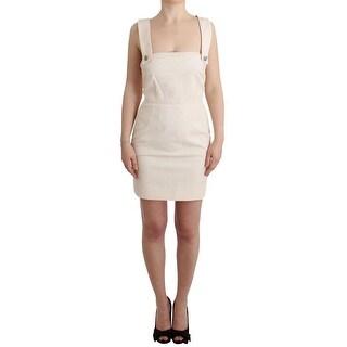 Dolce & Gabbana Dolce & Gabbana White brocade with crystal detailing dress - it40-s