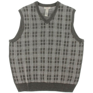 Dockers Mens Pattern V-Neck Sweater Vest - L