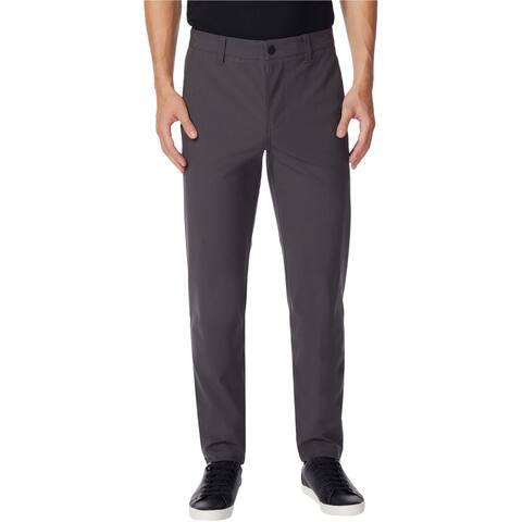 32 Degrees Mens Ultra Flex Casual Trouser Pants, Grey, 34W x 32L