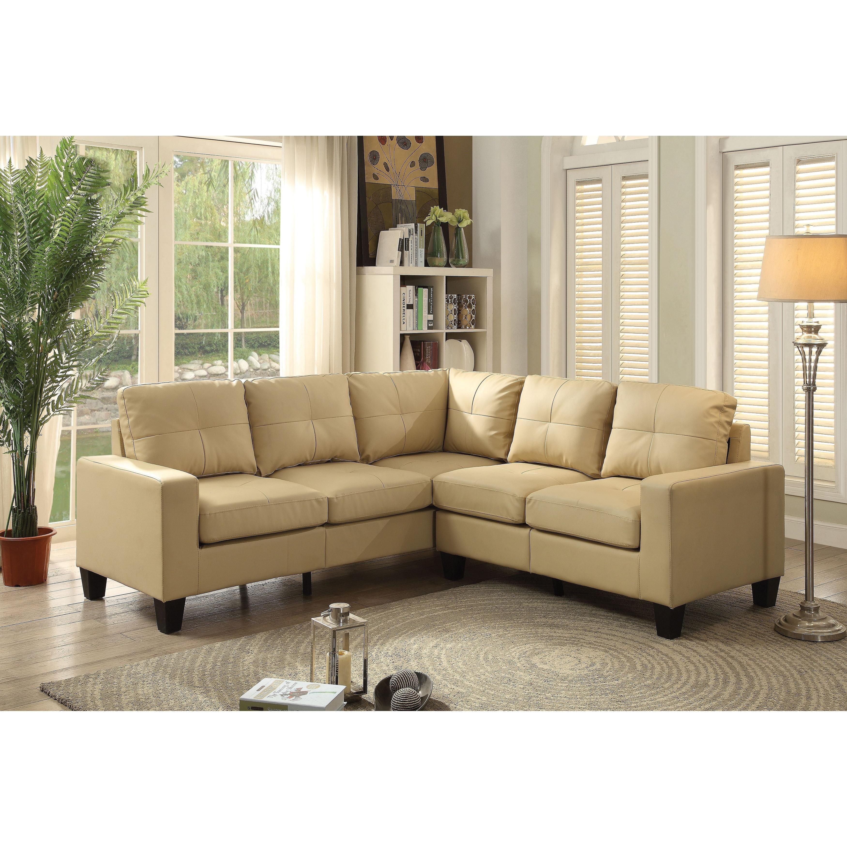 Newbury Faux Leather Sectional Sofa