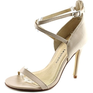 Chinese Laundry Lavelle Women Open Toe Leather Nude Sandals