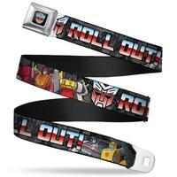 Transformers Autobot Logo Full Color Black Blue Red Fade Autobot Logo Roll Seatbelt Belt