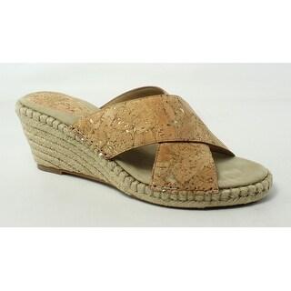 Johnston & Murphy Womens Arlene Natural Slides Size 10