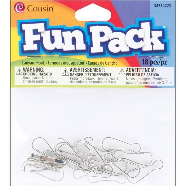 Fun Pack Lanyard Hooks 18/Pkg-Silver