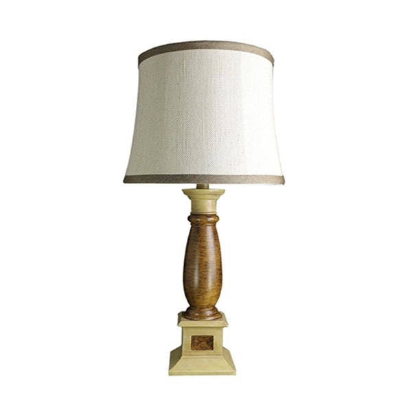 Shop 28 Brown And Beige Decorative Table Lamp With