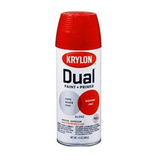 Krylon K08803000 Dual Paint & Primer One Spray Paint, 12 Oz