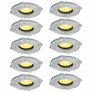 Spot Light Trim Medallions 6 Inch ID Urethane White Set of 10