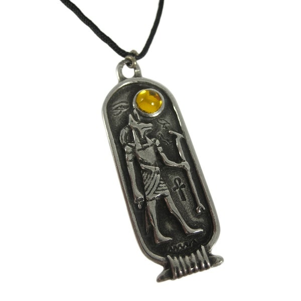 14k Rose Gold Egyptian Anubis Pendant Necklace