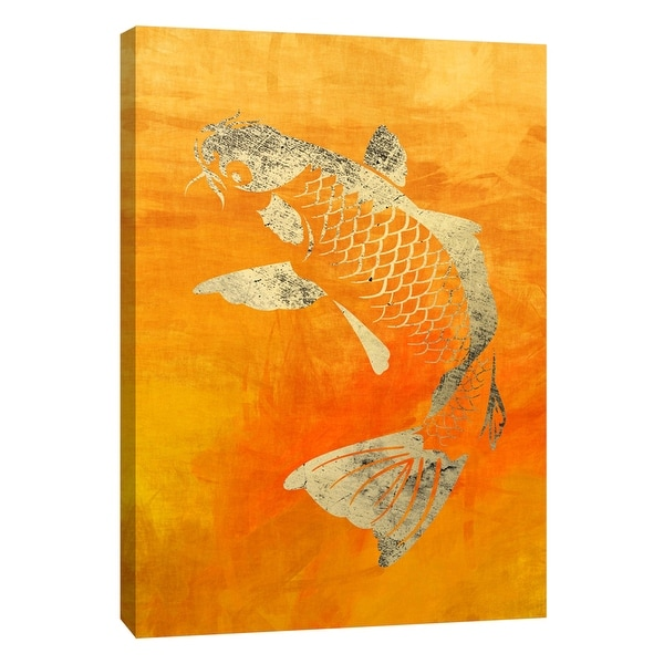 """PTM Images 9-109040 PTM Canvas Collection 10"""" x 8"""" - """"Koi"""" Giclee Koi Art Print on Canvas"""