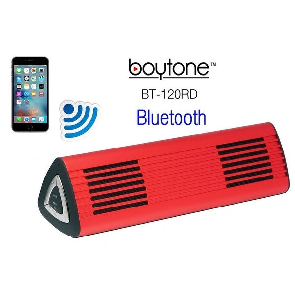 Boytone Bt-120Rd Portable 2.0 Wireless Speaker System - Red