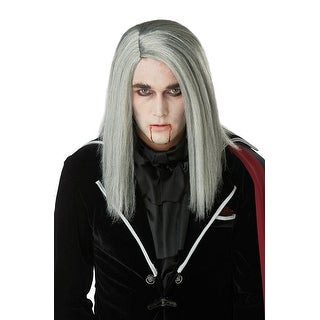 California Costumes Sleek Vampire Adult Wig - grey
