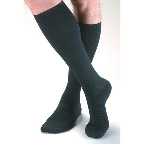 Men's Futuro Moderate Support Dress Black Socks -15-20 mmHg Compression