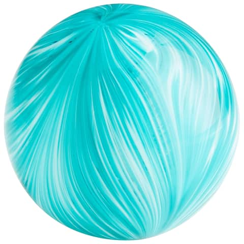"Cyan Design 09963 Chanel 4"" Diameter Glass Decorative Sphere - Turquoise"
