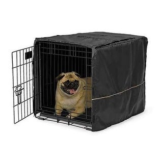 """Midwest Quiet Time Pet Crate Cover Black 24.5"""" x 17.5"""" x 19"""""""