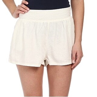 Union Bay NEW White Size 9 Junior Linen Blend Zipper Back Shorts